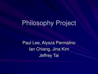 Philosophy Project