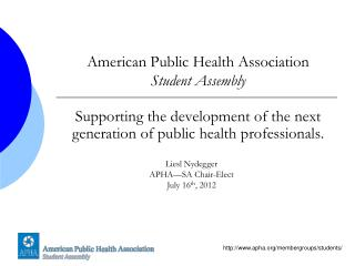 American Public Health Association Student Assembly