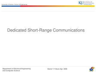 Dedicated Short-Range Communications