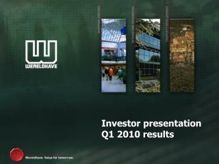 Investor presentation Q1 2010 results
