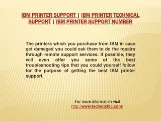 IBM Printer Support | 1800-713-8022 Toll Free | IBM Printer