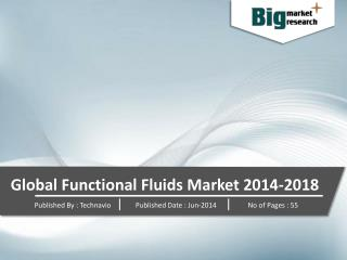 Global Functional Fluids Market 2014-2018