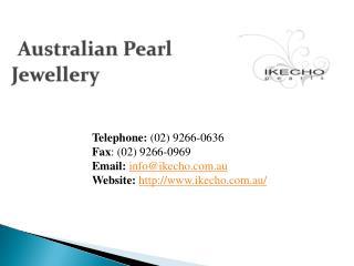 Tahitian Pearl Jewellery - Ikecho