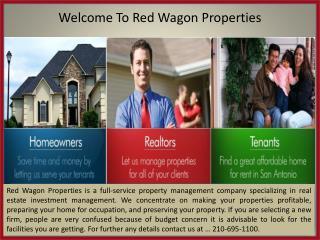 Buy Rental Houses In San Antonio-Redwagonproperties