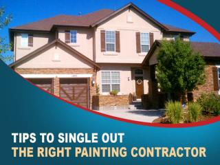 Tips to Single Out the Right Painting Contractor in Denver