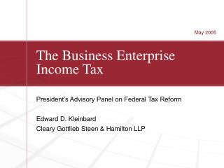 The Business Enterprise Income Tax