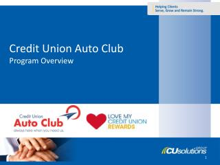 Credit Union Auto Club Program Overview