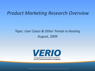 Product Marketing Research Overview