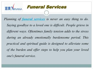 Immaculate Bereavement Care Provider in Asia
