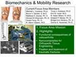 Biomechanics  Mobility Research