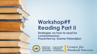 Workshop#9 Reading Part II