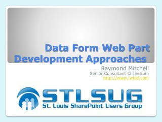 Data Form Web Part Development Approaches