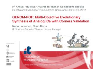 GENOM-POF: Multi-Objective Evolutionary Synthesis of Analog ICs with Corners Validation