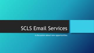 SCLS Email Services