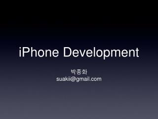 iPhone Development