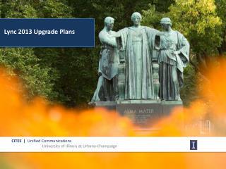 Lync 2013 Upgrade Plans
