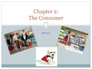 Chapter 2:  The Consumer