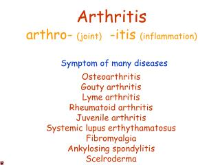 arthritis facts