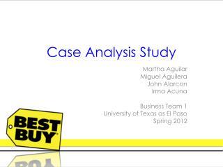 Case Analysis Study