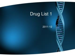 Drug List 1