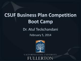 CSUF Business Plan Competition Boot Camp