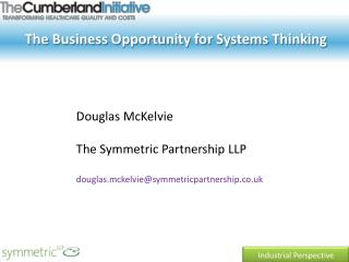The Business Opportunity for Systems Thinking