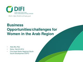 Business Opportunities/challenges for Women in the Arab Region