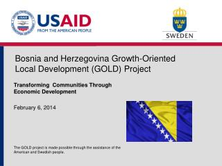 Bosnia and Herzegovina Growth-Oriented Local Development (GOLD) Project