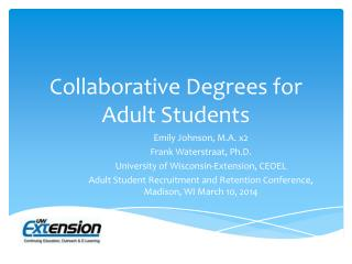 Collaborative Degrees for Adult Students