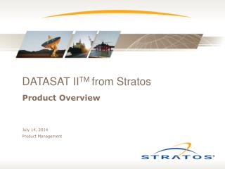 DATASAT II TM  from Stratos
