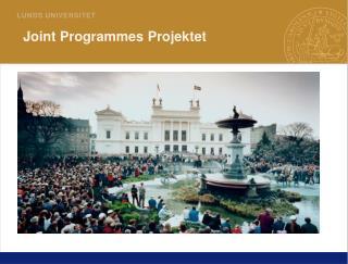 Joint Programmes Projektet