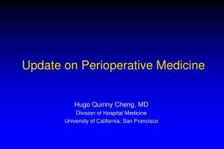 Update on Perioperative Medicine