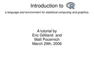 Introduction to a language and environment for statistical computing and graphics.