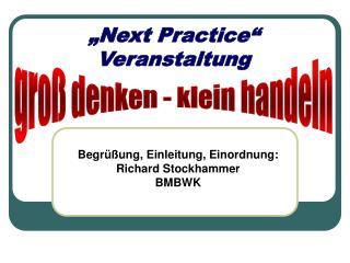 """""""Next Practice"""" Veranstaltung"""