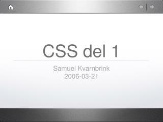 CSS del 1