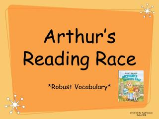Arthur s Reading Race
