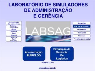 LABORATÓRIO DE SIMULADORES  DE ADMINISTRA ÇÃO E GERÊNCIA