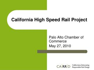 California High Speed Rail Project