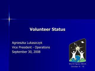 Volunteer Status