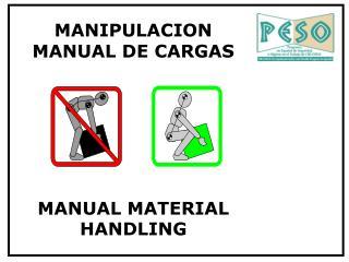 MANIPULACION MANUAL DE CARGAS MANUAL MATERIAL HANDLING