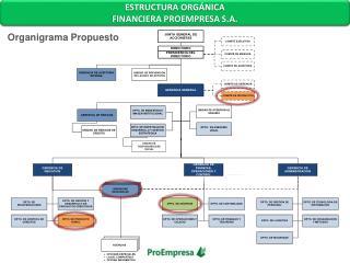 ESTRUCTURA ORGÁNICA FINANCIERA  PROEMPRESA S.A.