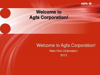 Welcome to  Agfa Corporation!