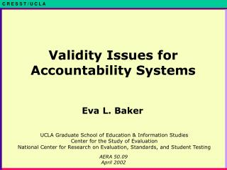 Validity Issues for Accountability Systems