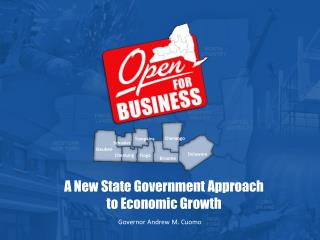 A New State Government Approach to Economic Growth