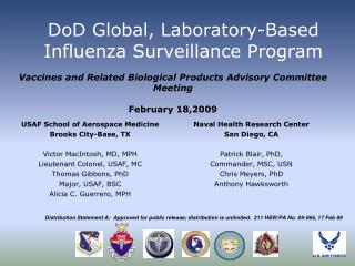 DoD Global, Laboratory-Based Influenza Surveillance Program