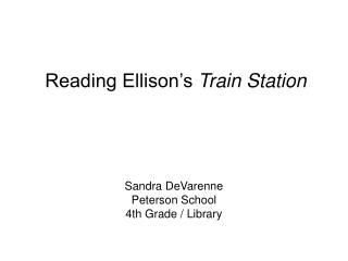 Sandra DeVarenne Peterson School 4th Grade / Library