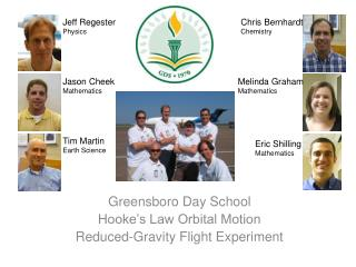 Greensboro Day School Hooke's Law Orbital Motion Reduced-Gravity Flight Experiment