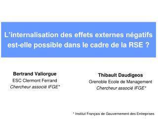 L'internalisation des effets externes négatifs est-elle possible dans le cadre de la RSE ?