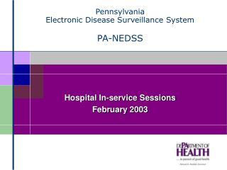 Pennsylvania Electronic Disease Surveillance System