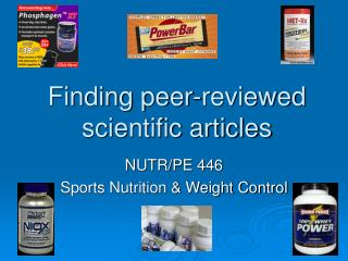 Finding peer-reviewed scientific articles